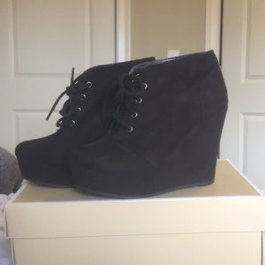 Size 5 Black Booties from Journey's